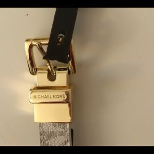 Michael Kors reversible belt Vanilla/Blue small